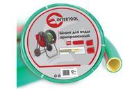 Шланг поливочный Intertool - 3/4 х 10 м салатовый 4-х слойный