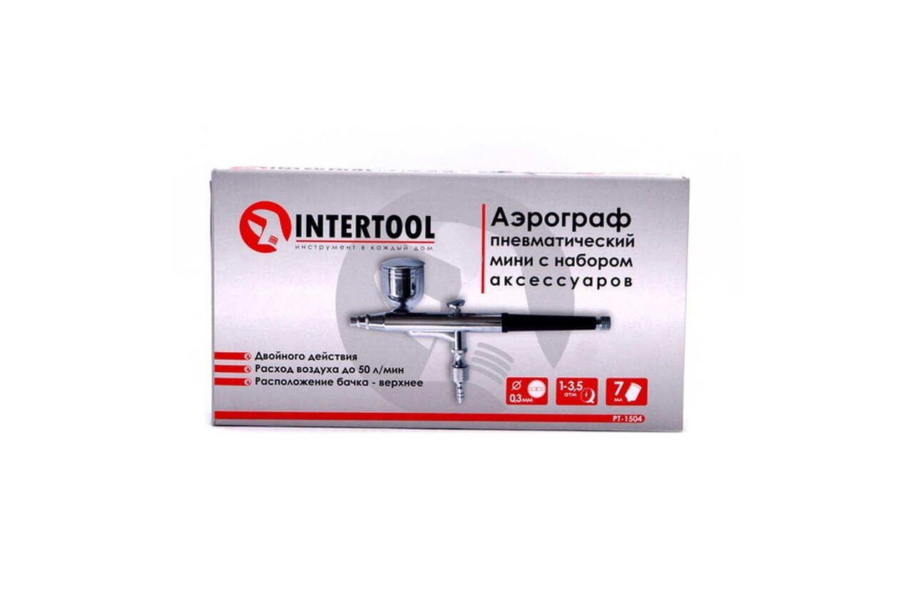 Аэрограф Intertool - верхний бак 7 мл x 0,3 мм 2