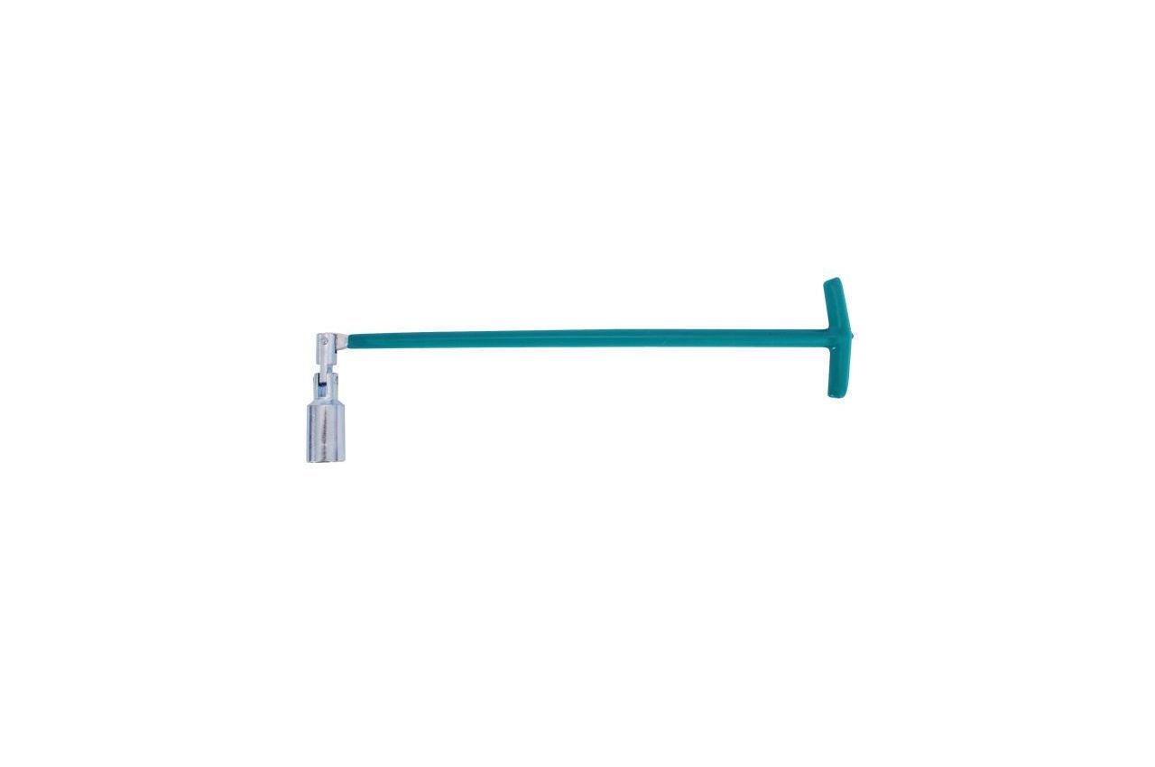 Ключ свечной Т-образный с шарниром Intertool - 21 x 500 мм 1