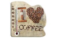 Термометр комнатный Стеклоприбор - (0/+50°C) П-21 кофе