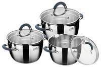 Набор посуды нержавеющий Maxmark - 3 шт. (2 x 3 x 4 л) MK-VS5506A