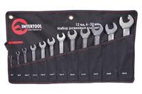Набор рожковых ключей Intertool - 12 шт. (6-32 мм) Pro