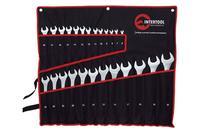 Набор рожково-накидных ключей Intertool - 25 шт. (6-32 мм) в чехле