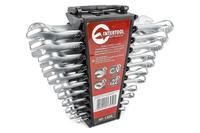 Набор рожково-накидных ключей Intertool - 22 шт., дюймовые