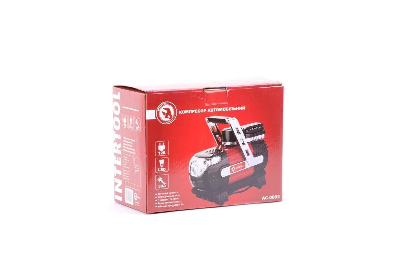 Миникомпрессор автомобильный Intertool - 12В x 7 bar x 30 л/мин 6