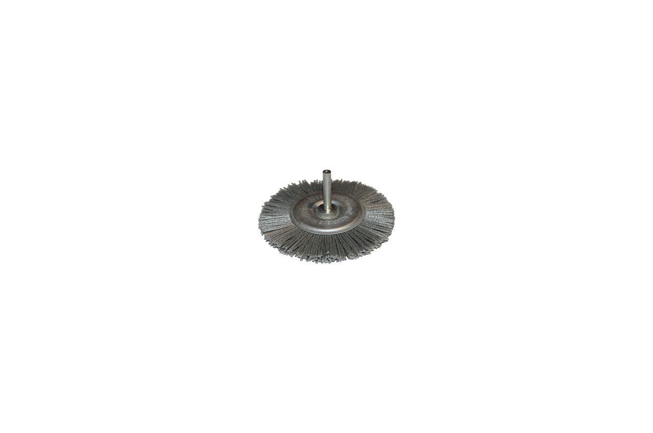Щетка пиранья дисковая на дрель Pilim - 75 мм x P120 коричневая 1
