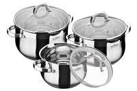 Набор посуды нержавеющий Maxmark - 3 шт. (3 x 4 x 5 л) MK-BL6506B