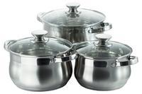 Набор посуды нержавеющий Maxmark - 3 шт. (2 x 3 x 4 л) MK-BL2506A