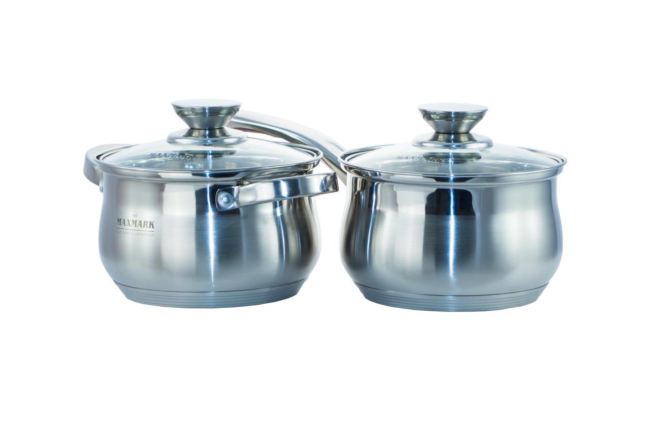 Набор посуды нержавеющий Maxmark - 5 шт. (1,5 x 2 x 3 x 5 л + сотейник 1,8 л) MK-BL2510 2