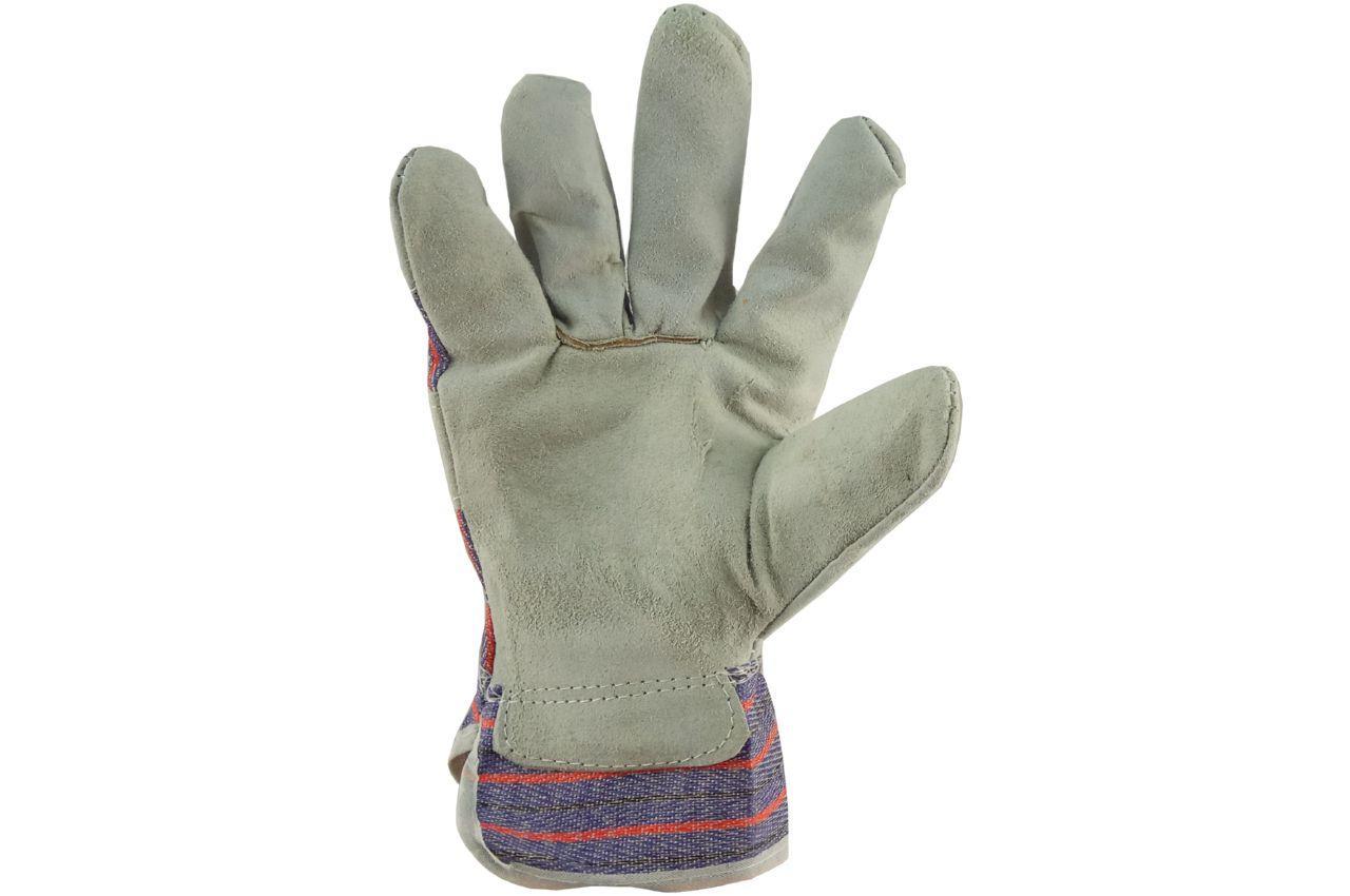Перчатки Сила - замшевые комбинированные, сшивная ладонь 10,5 1