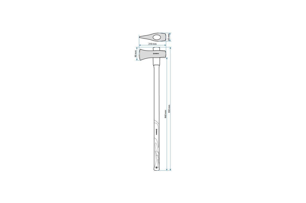Топор-колун Intertool - 2500 г длинная ручка фибергласс 4
