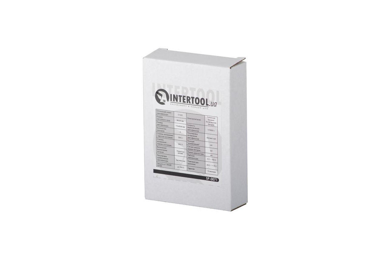 Светофильтр к маске хамелеон Intertool - 92 x 34 мм автомат 5