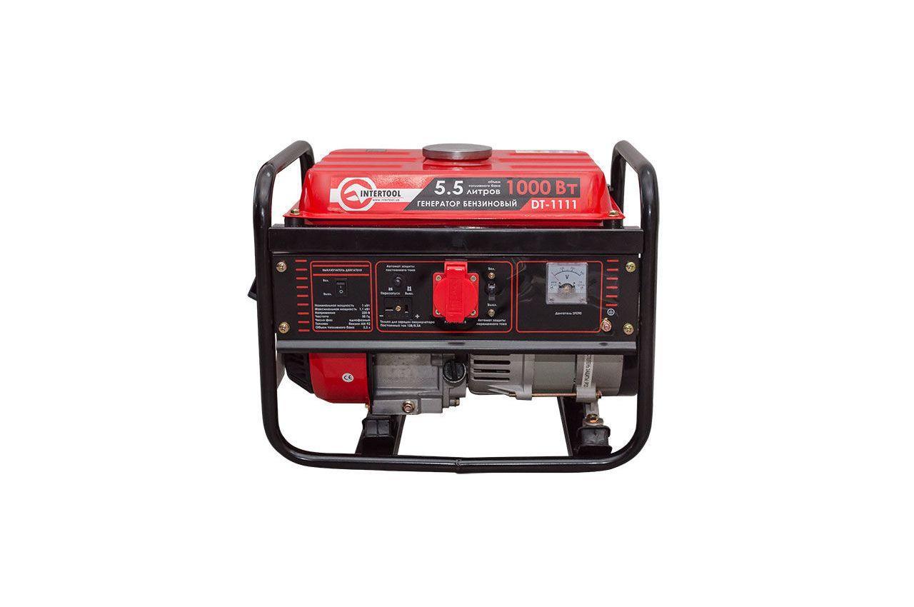 Генератор бензиновый Intertool - 1 кВт 3
