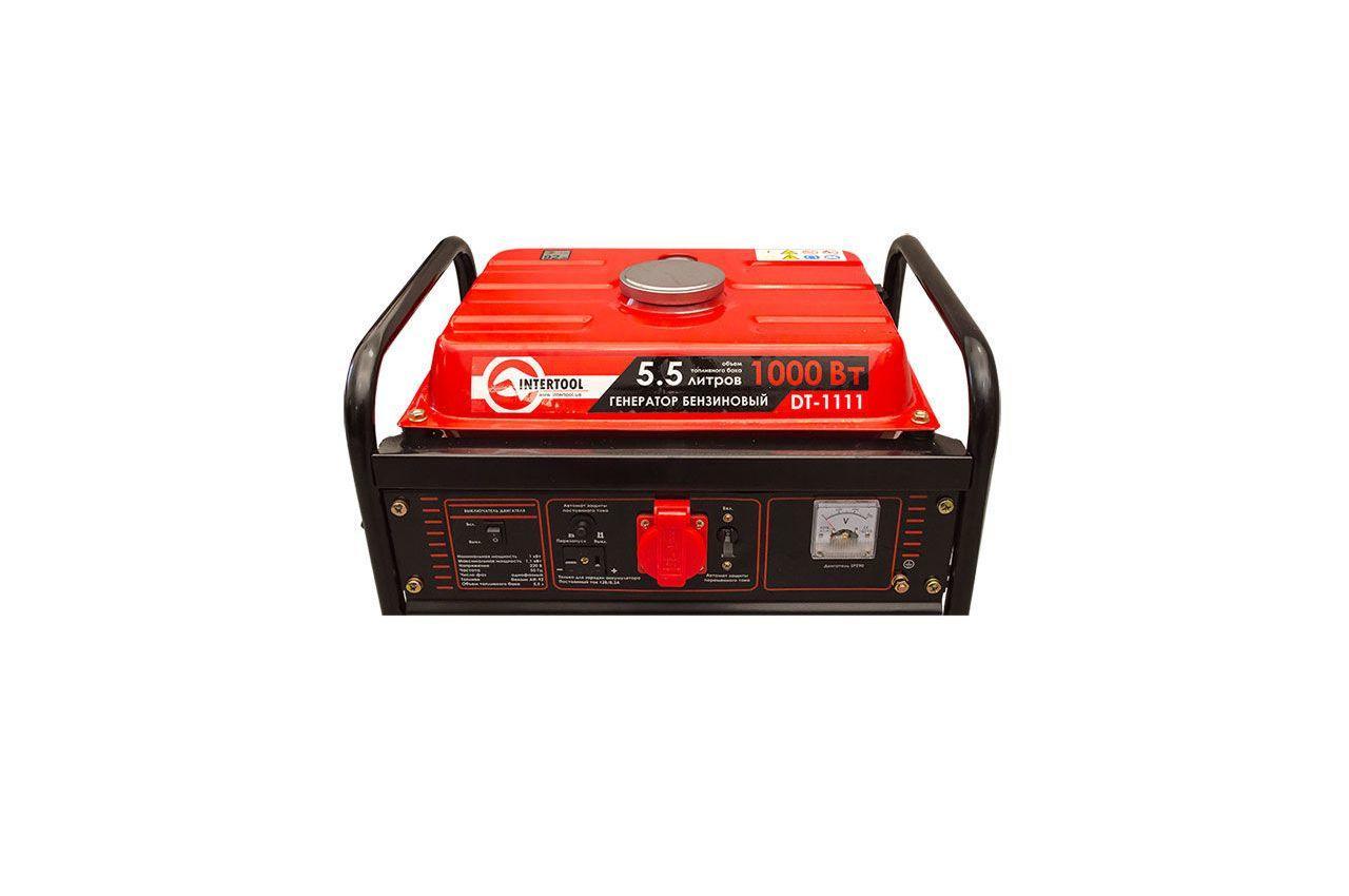 Генератор бензиновый Intertool - 1 кВт 5