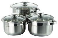 Набор посуды нержавеющий Astor - 2,9 x 3,9 x 5,1 л (3 шт.)