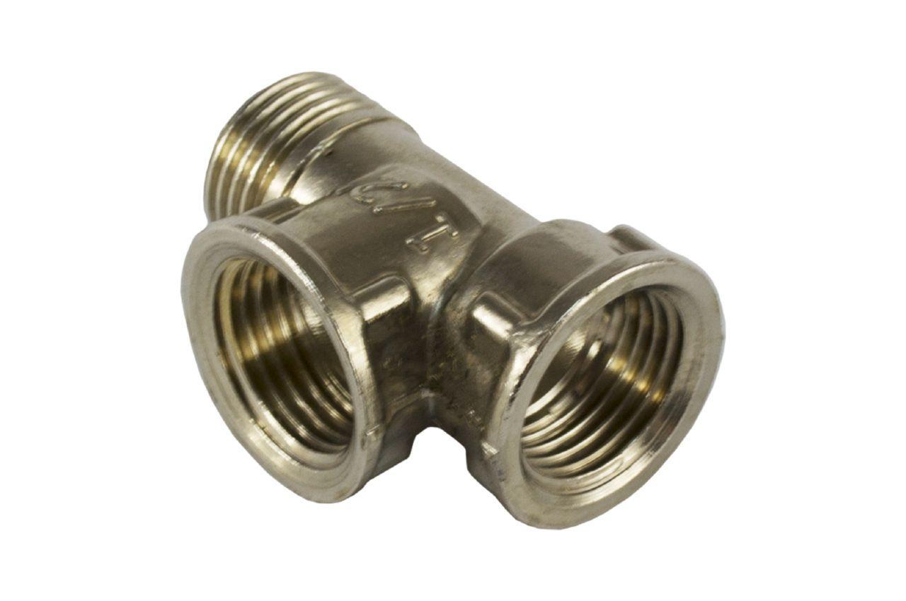 Тройник никель STA - 1/2В x 1/2В x 1/2Н Lux 3