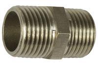 Ниппель никель STA - 1/2Н x 1/2Н Lux длинный