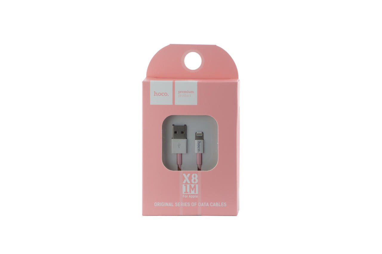Кабель Lightning Hoco - X8 1 м Pink 2