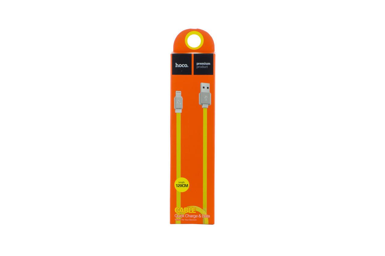 Кабель Lightning Hoco - UPL18 1,2 м Yellow 2