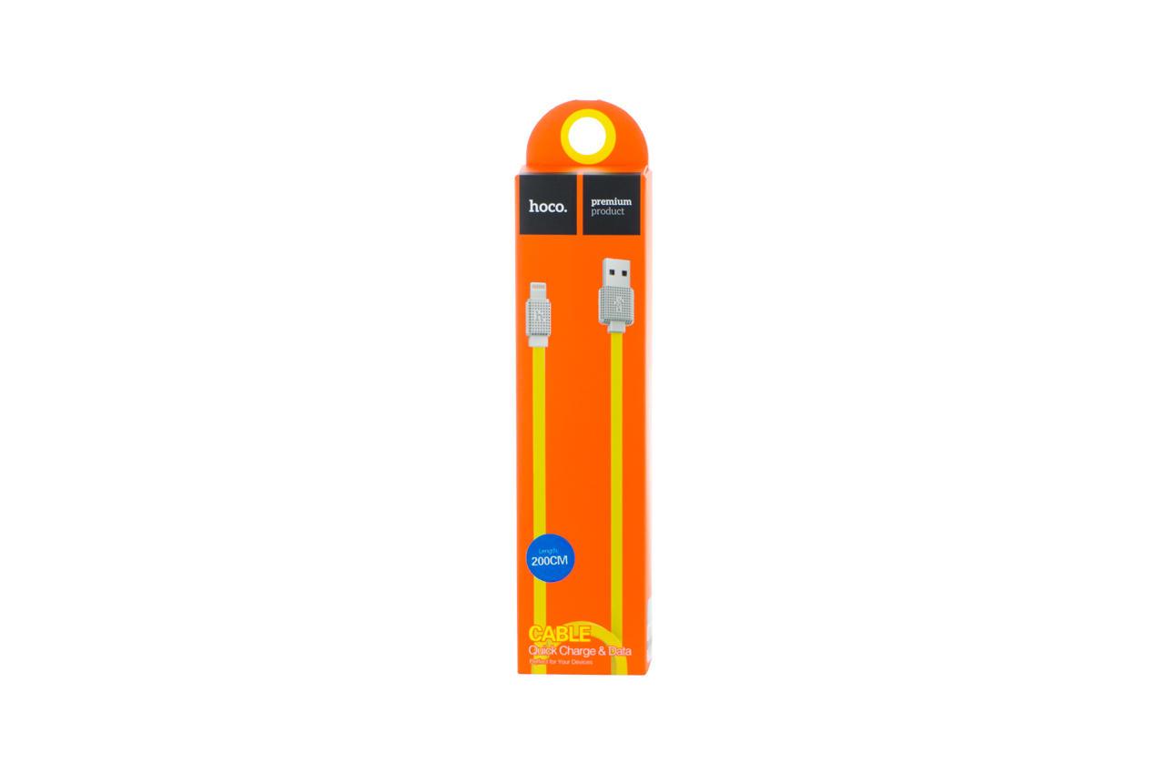 Кабель Lightning Hoco - UPL18 2 м Yellow 2
