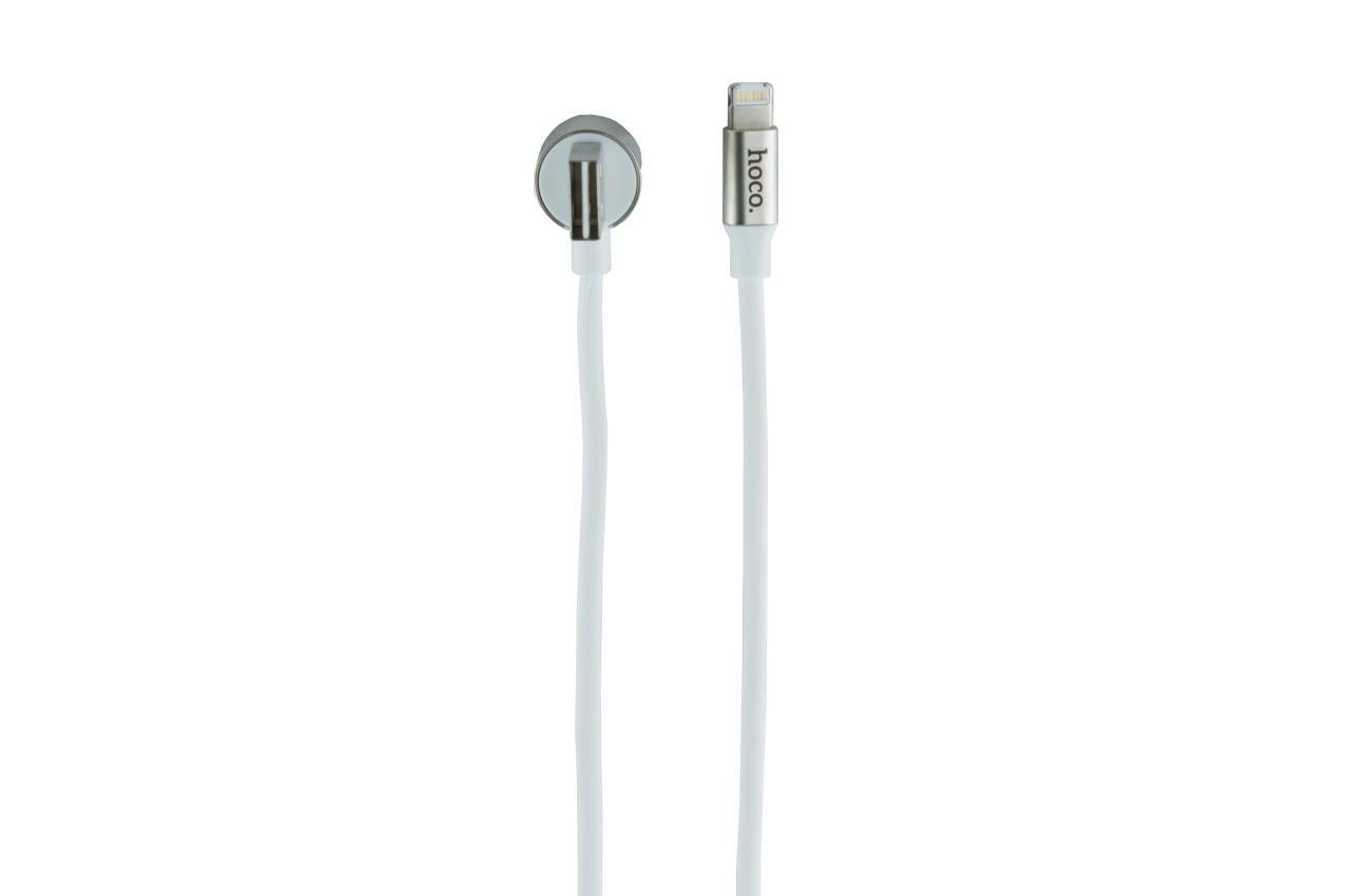 Кабель Lightning+Micro-USB Hoco - U18 1,2 м White 1