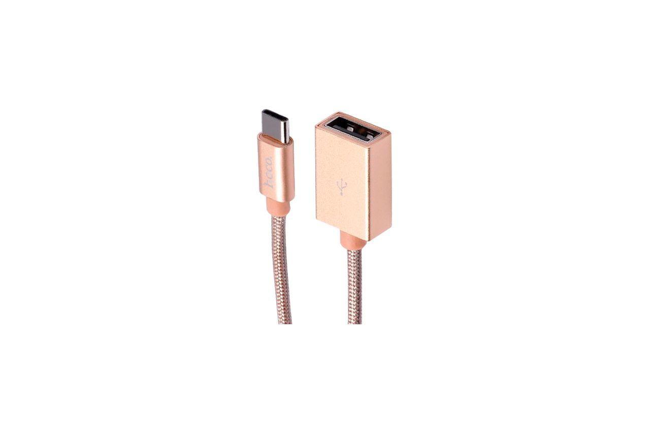 Адаптер Hoco - UA3 Type-C x USB Gold 1