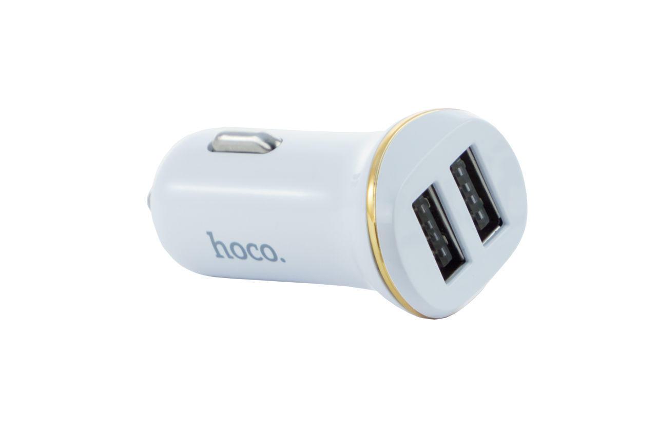 Автомобильное зарядное устройство Hoco - Z1 2USB White 1