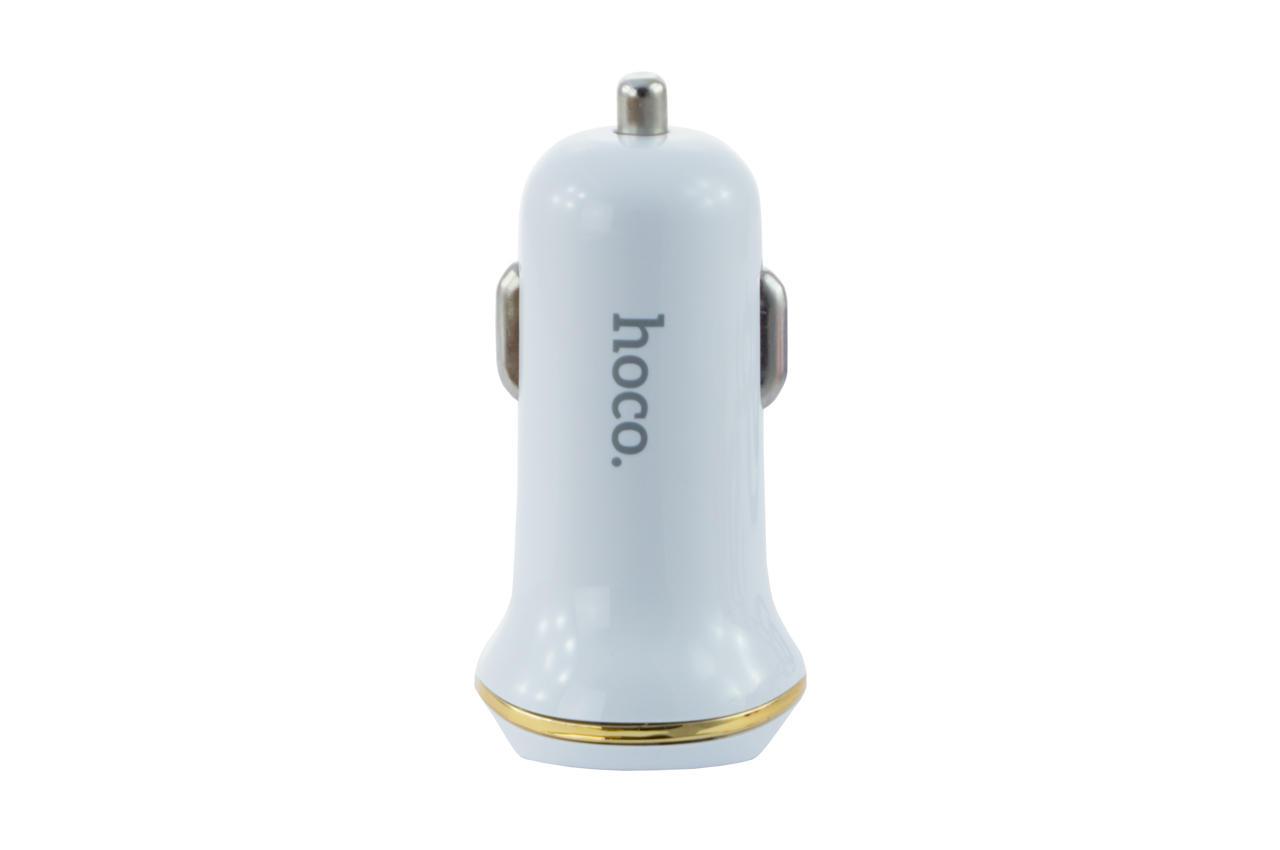 Автомобильное зарядное устройство Hoco - Z1 2USB White 2