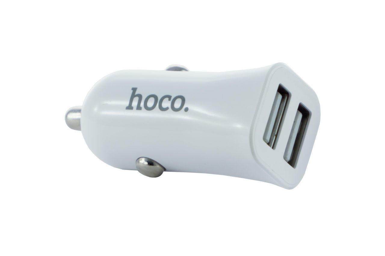 Автомобильное зарядное устройство Hoco - Z12 2USB White 1