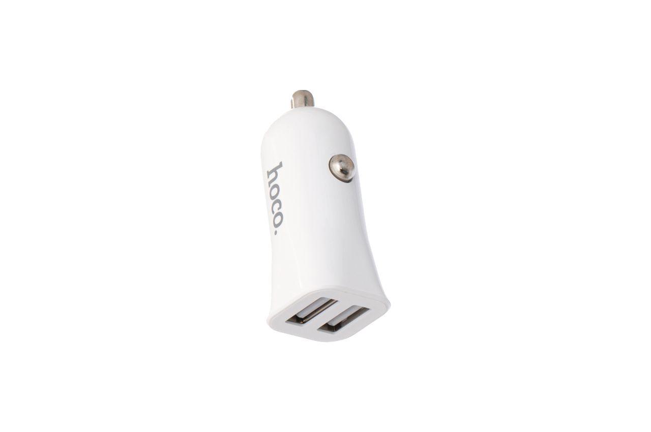 Автомобильное зарядное устройство Hoco - Z12 2USB x Lightning White 1