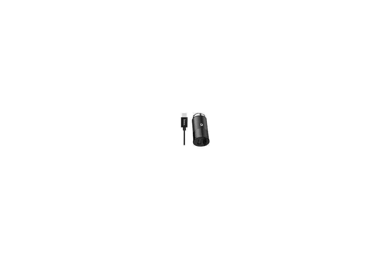 Автомобильное зарядное устройство Hoco - Z17 2USB x Type-C Black 1