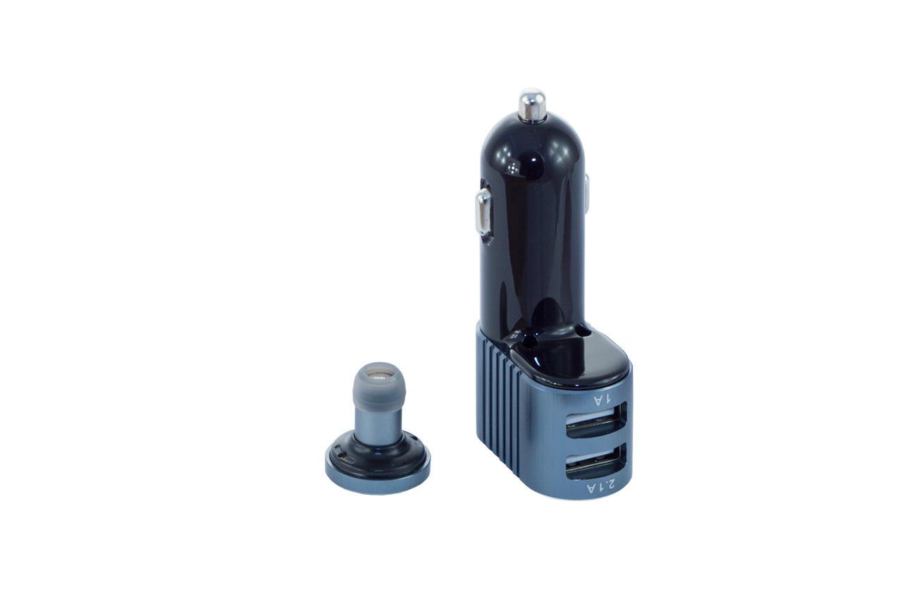 Автомобильное зарядное устройство + гарнитура Awei - A871BL 2USB Gray 2