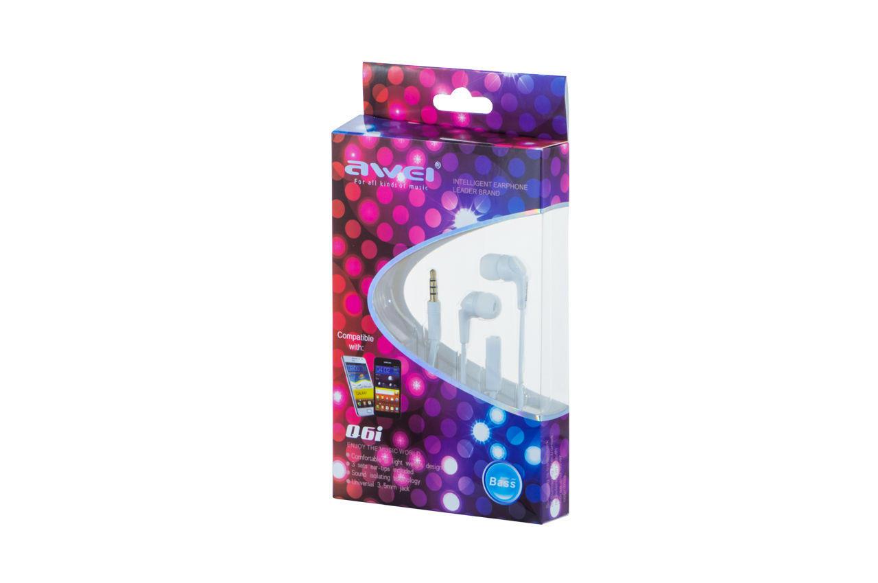 Наушники Awei - Q6i White 1