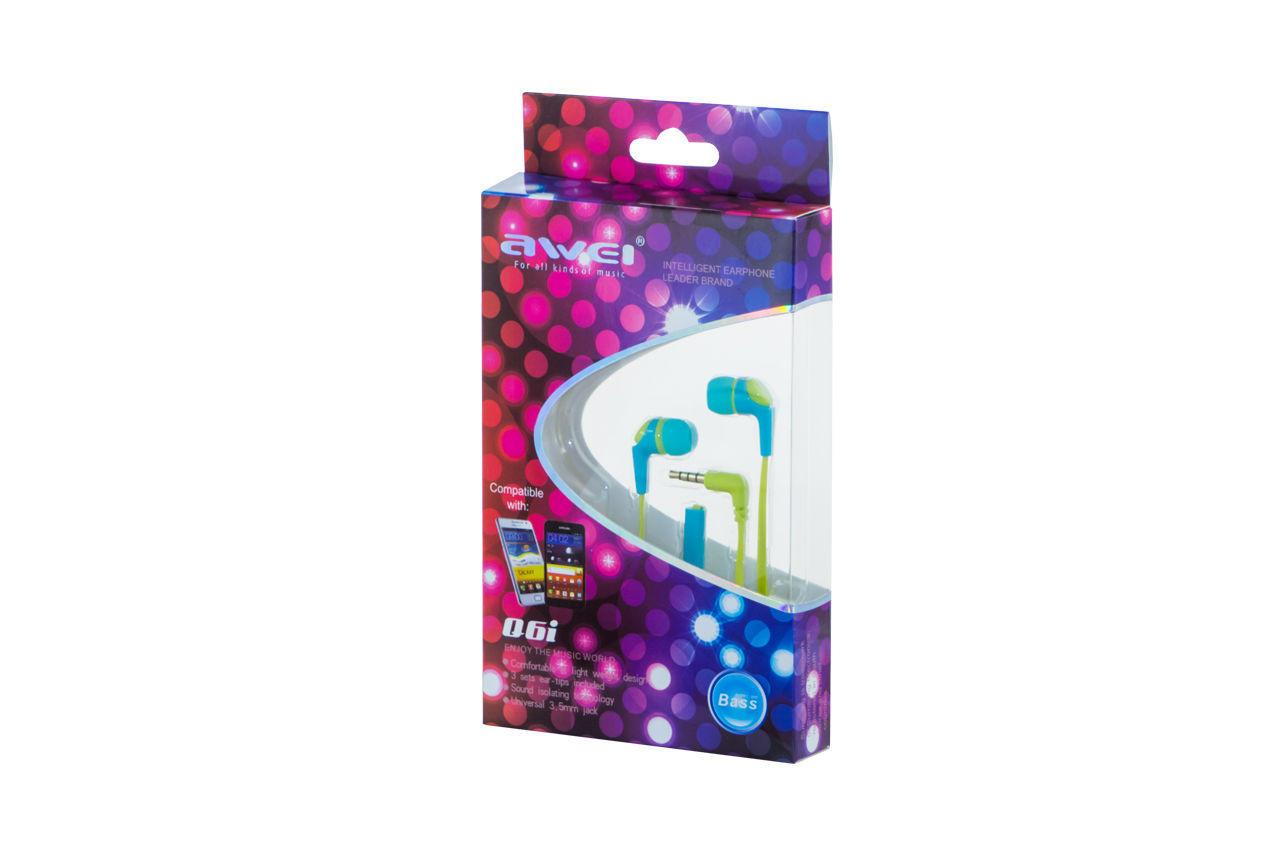Наушники Awei - Q6i Blue 1
