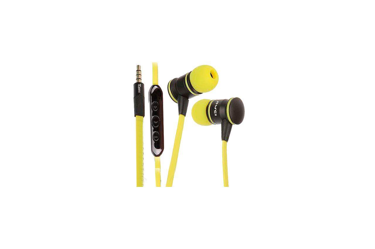 Наушники Awei - TE200Vi Black&Yellow 1