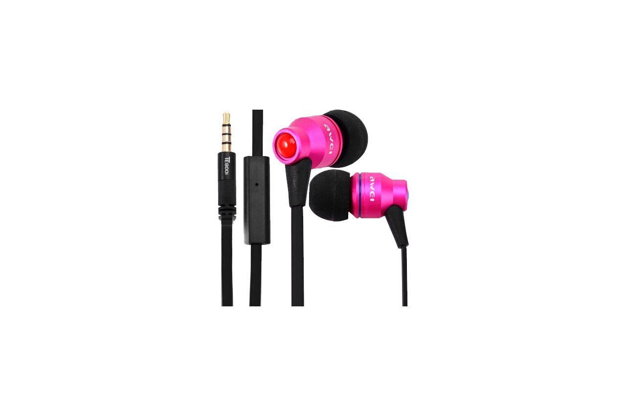 Наушники Awei - TE800i Pink 1