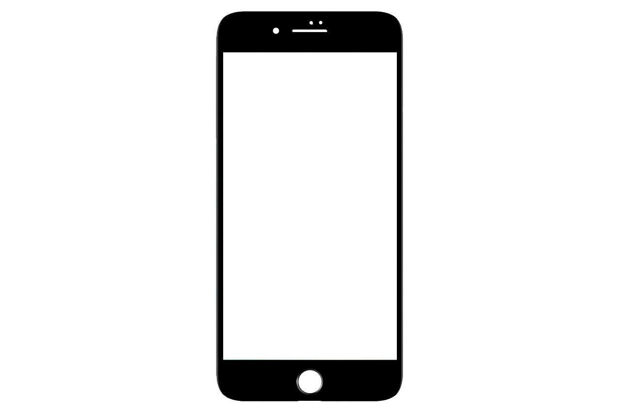 Защитное стекло iPhone - 8 Plus 4D Black 1