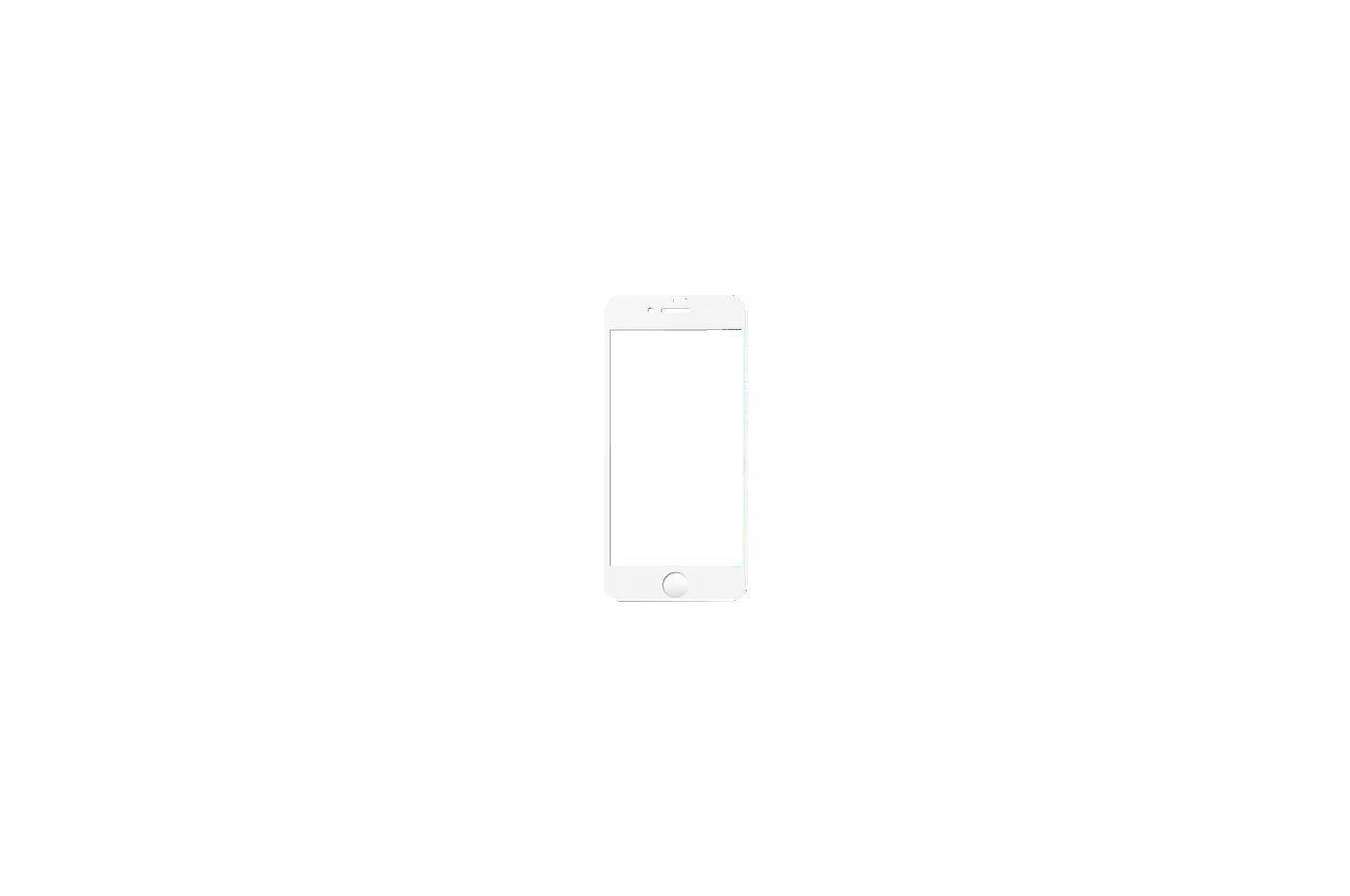 Стекло защитное iPhone - 8 Plus 4D White 1