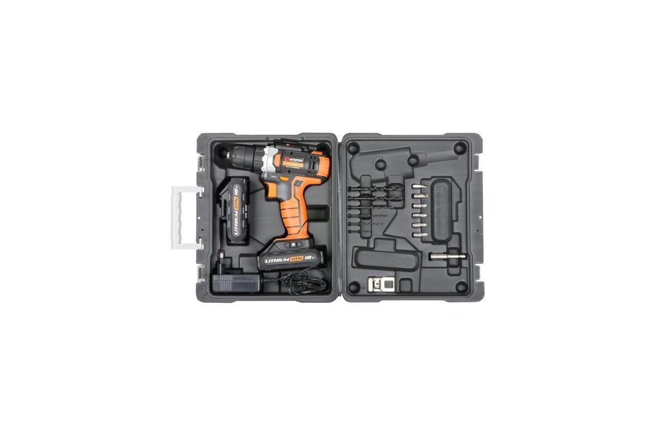 Шуруповерт аккумуляторный Intertool - Storm 18В WT-0314 5