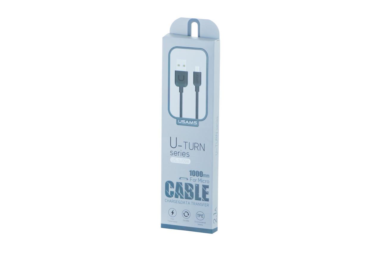 Кабель Micro-USB Usams - US-SJ098 1 м Black 2