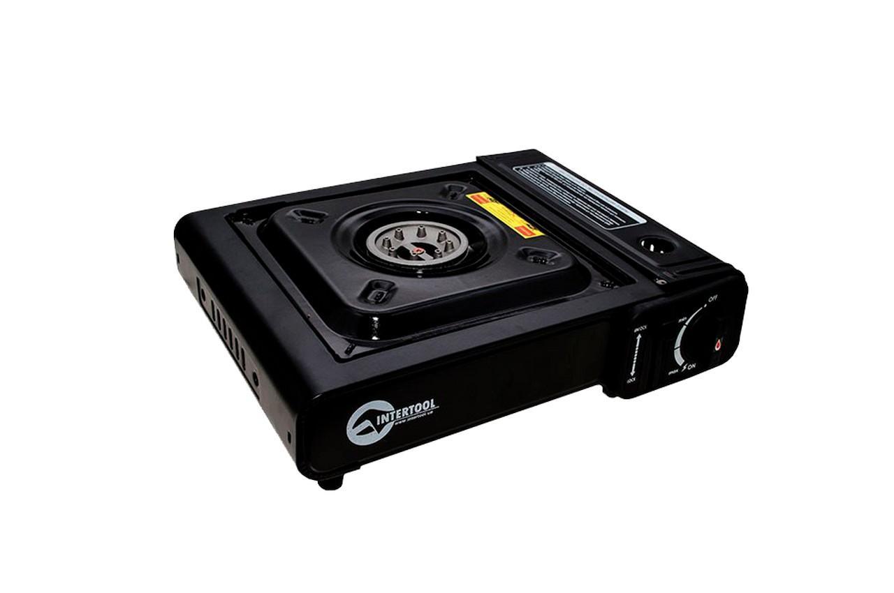 Плита газова портативна Intertool - 342 x 275 x 113 с адаптером 1