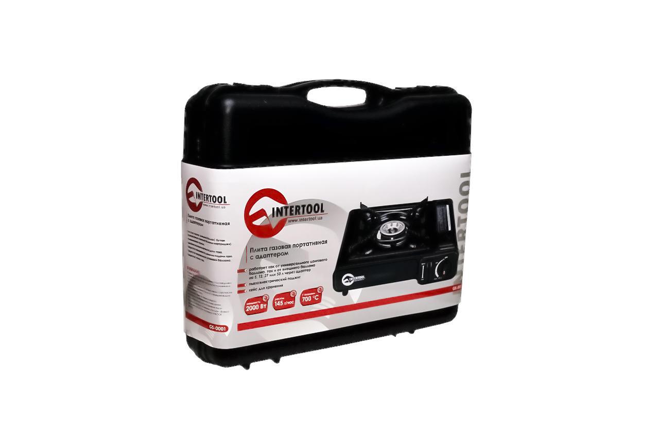 Плита газова портативна Intertool - 342 x 275 x 113 с адаптером 7