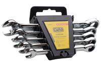 Набор рожково-накидных ключей Сила - 5 шт. (10-17 мм) с трещоткой