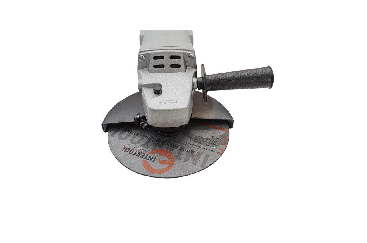 Угловая шлифмашина Intertool - 1650 Вт x 180 мм 4