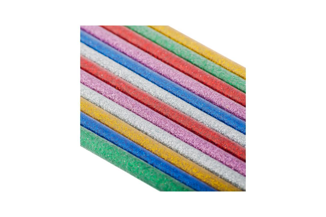 Клеевые стержни Intertool - 7,4 x 200 мм цветные перламутровые (12 шт.) 2
