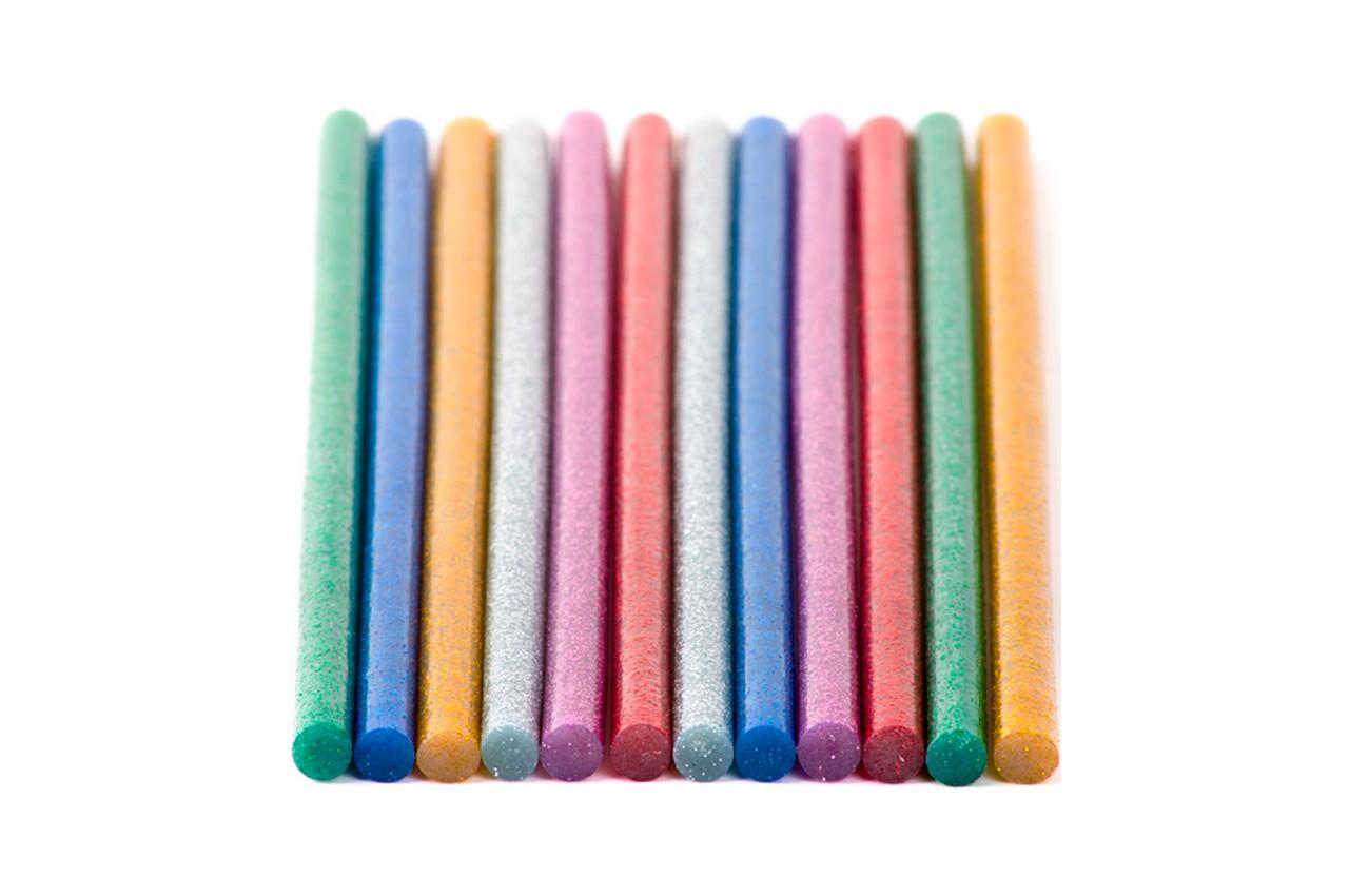 Клеевые стержни Intertool - 7,4 x 200 мм цветные перламутровые (12 шт.) 3