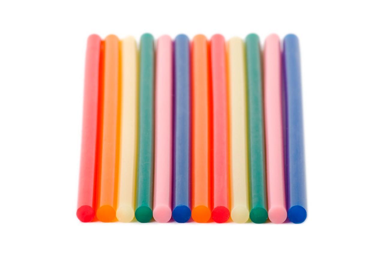 Клеевые стержни Intertool - 7,4 x 200 мм цветные (12 шт.) 1