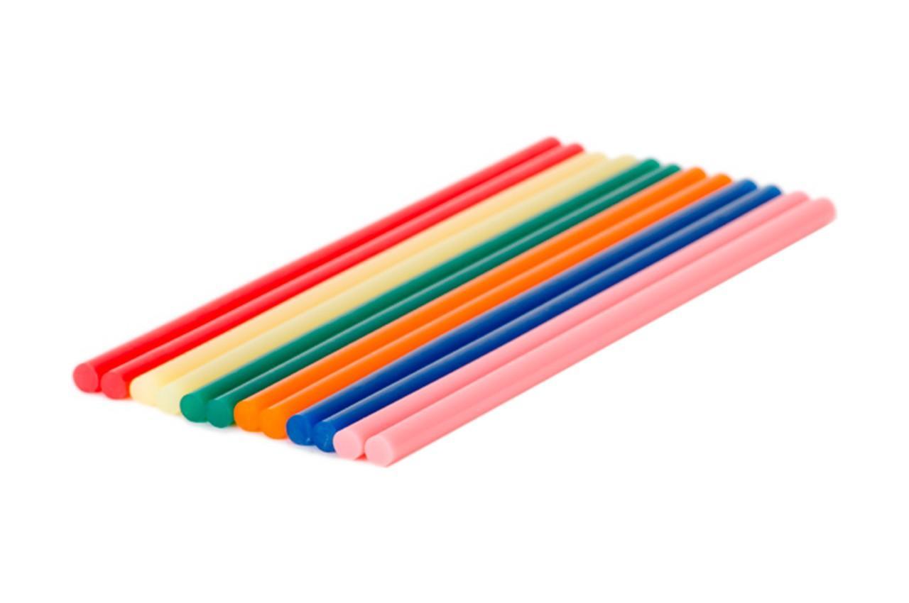 Клеевые стержни Intertool - 7,4 x 200 мм цветные (12 шт.) 2