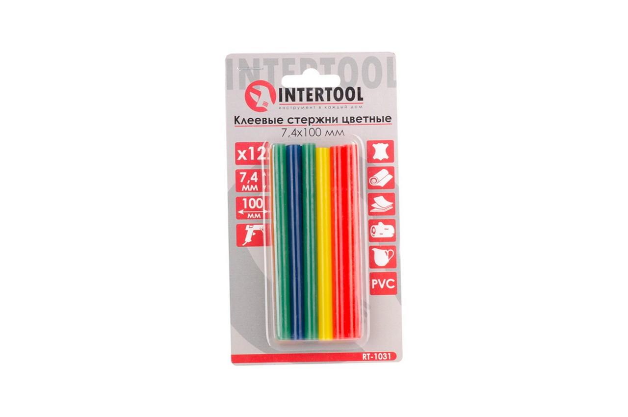 Клеевые стержни Intertool - 7,4 x 100 мм цветные (12 шт.) 5