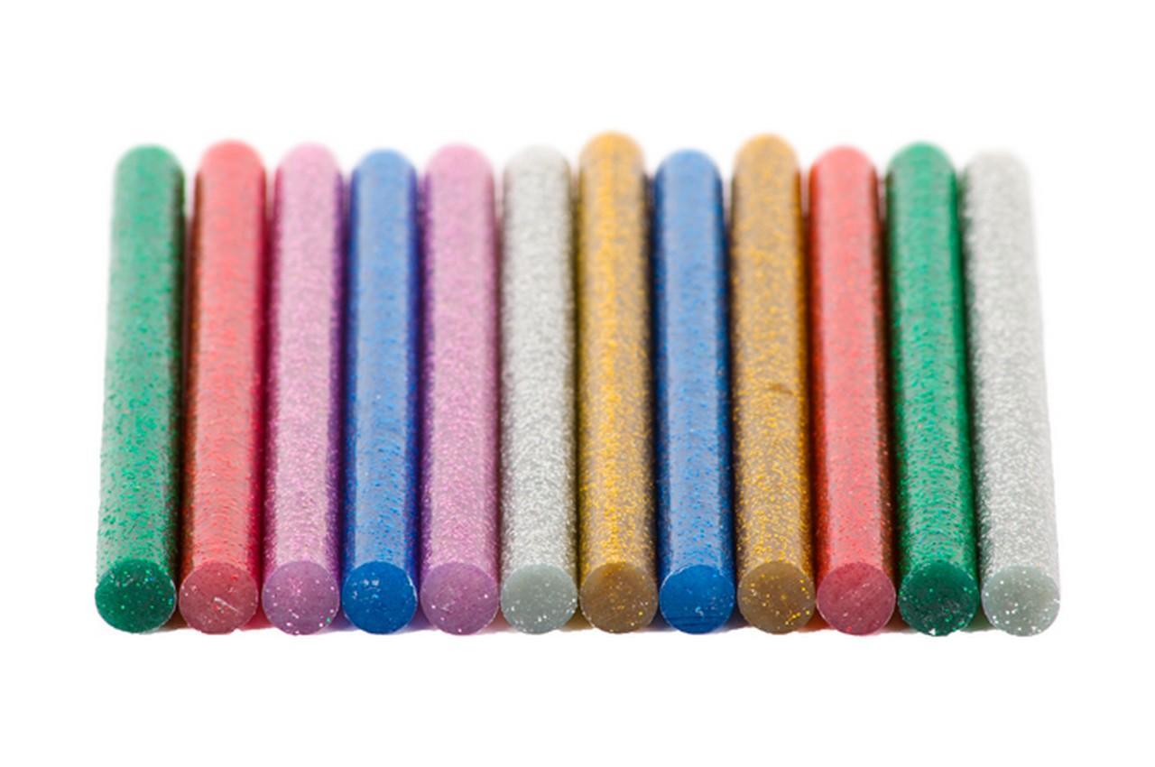 Клеевые стержни Intertool - 7,4 x 100 мм цветные перламутровые (12 шт.) 2
